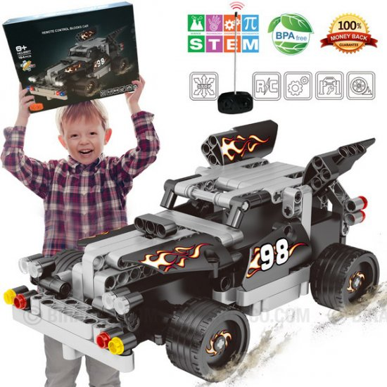RC Racer Building Kit, Educational STEM Construction Vehicle Blocks Set for 6, 7, 8 and 9+ Years Old Kids