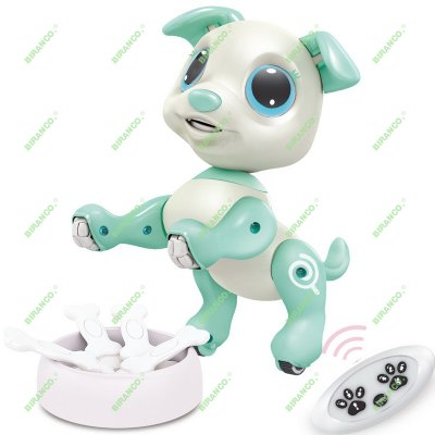 Updated 2019 Robot Puppy - RC, Gesture, STEM, Lights and Sounds Electronic Pets Toys, Ages 3 and up (White)
