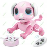 Updated 2019 Robot Dog - RC, Gesture, STEM, Lights and Sounds Electronic Pets Toys, Ages 3 and up (Pink)